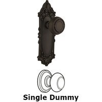 Nostalgic Warehouse - Victorian - Passage Victorian Plate with Mission Knob in Oil Rubbed Bronze