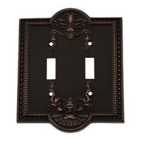 Nostalgic Warehouse - Meadows - Double Toggle Switchplate in Timeless Bronze