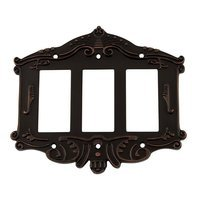 Nostalgic Warehouse - Victorian - Triple Rocker Switchplate in Timeless Bronze