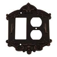 Nostalgic Warehouse - Victorian - Rocker/Duplex Switchplate in Timeless Bronze