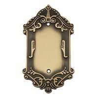 Nostalgic Warehouse - Victorian - Blank Switchplate in Antique Brass