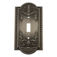 Nostalgic Warehouse - Meadows - Single Toggle Switchplate in Antique Pewter