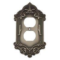 Nostalgic Warehouse - Victorian - Duplex Switchplate in Antique Brass