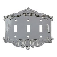 Nostalgic Warehouse - Victorian - Triple Toggle Switchplate in Bright Chrome