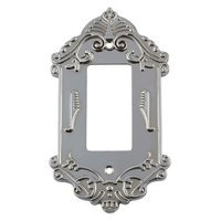 Nostalgic Warehouse - Victorian - Single Rocker Switchplate in Bright Chrome