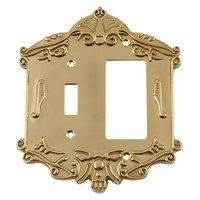 Nostalgic Warehouse - Victorian - Toggle/Rocker Switchplate in Polished Brass