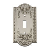 Nostalgic Warehouse - Meadows - Single Toggle Switchplate in Antique Brass