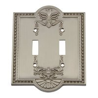 Nostalgic Warehouse - Meadows - Double Toggle Switchplate in Satin Nickel