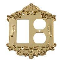 Nostalgic Warehouse - Victorian - Rocker/Duplex Switchplate in Antique Brass