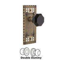 Nostalgic Warehouse - Craftsman - Privacy Craftsman Plate Waldorf Black Door Knob in Timeless Bronze