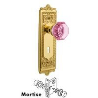 Nostalgic Warehouse - Egg & Dart - Nostalgic Warehouse - Mortise - Egg & Dart Plate Waldorf Pink Door Knob in Timeless Bronze