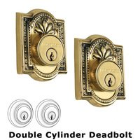 Nostalgic Warehouse - Meadows - Double Deadlock - Meadows Deadbolt (Keyed Alike) in Antique Brass