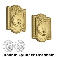 Nostalgic Warehouse - Meadows - Double Deadlock - Meadows Deadbolt (Keyed Alike) in Polished Brass
