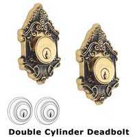 Nostalgic Warehouse - Victorian - Double Deadlock - Victorian Deadbolt (Keyed Different) in Antique Brass