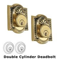 Nostalgic Warehouse - Meadows - Double Deadlock - Meadows Deadbolt (Keyed Different) in Antique Brass