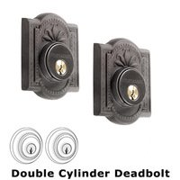 Nostalgic Warehouse - Meadows - Double Deadlock - Meadows Deadbolt (Keyed Different) in Oil Rubbed Bronze