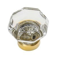 "Nostalgic Warehouse - Enfield - 1 3/8"" Waldorf Crystal Cabinet Knob in Polished Nickel"