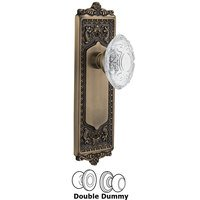 Nostalgic Warehouse - Egg & Dart - Privacy - Egg & Dart Plate With Crystal Victorian Knob in Timeless Bronze
