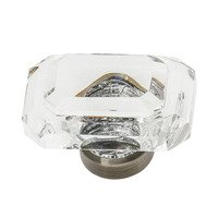 "Nostalgic Warehouse - Enfield - 1 9/16"" Baguette Cut Clear Crystal Cabinet Knob in Polished Nickel"