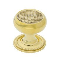 """Nostalgic Warehouse - Enfield - Craftsman Brass 1 3/8"""" Cabinet Knob with Rope Rose in Antique Brass"""
