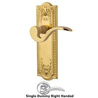 Nostalgic Warehouse - Meadows - Meadows Plate Privacy Manor Lever in Antique Brass