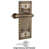 Nostalgic Warehouse - Craftsman - Craftsman Plate Privacy Fleur Lever in Antique Brass