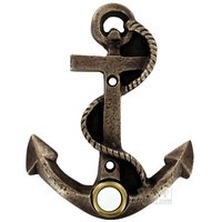 Novelty Hardware - Door Bell - Anchor Door Bell in Antique Brass