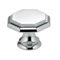 "Omnia Industries - Classic & Modern - 1 9/16"" Octagonal Knob in Polished Chrome"