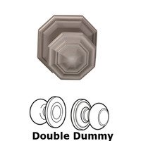 Omnia Industries - Door Knobs - Double Dummy Traditions Octagon Knob with Octagon Rosette in Satin Nickel