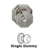 Omnia Industries - Door Knobs - Single Dummy Traditions Octagon Knob with Octagon Rosette in Polished Nickel Lacquered