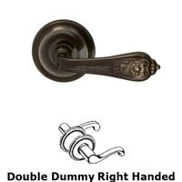 Omnia Industries - Door Levers - Double Dummy Crested Right Handed Lever with Radial Rosette in Shaded Bronze Lacquered