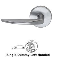 Omnia Industries - Door Levers - Left Handed Single Dummy Tapered Lever with Round Rose in Satin Chrome