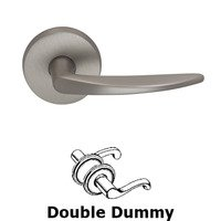 Omnia Industries - Door Levers - Double Dummy Tapered Lever with Round Rose in Satin Nickel Lacquered