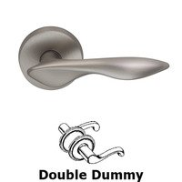 Omnia Industries - Door Levers - Double Dummy Ergonomic Lever with Round Rose in Satin Nickel