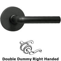 Omnia Industries - Door Levers - Double Dummy Soho Right Handed Lever with Plain Rosette in Oil Rubbed Bronze Lacquered