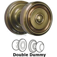 Omnia Industries - Door Knobs - Double Dummy Set Classic Ridge Knob with Radial Rosette in Shaded Bronze Lacquered