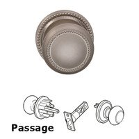 Omnia Industries - Door Knobs - Passage Traditions Beaded Knob with Beaded Rosette in Satin Nickel