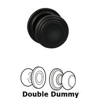 Omnia Industries - Door Knobs - Double Dummy Traditions Knob with Radial Rosette in Oil Rubbed Bronze Lacquered