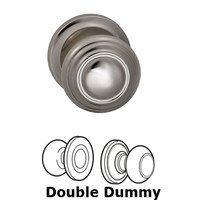 Omnia Industries - Door Knobs - Double Dummy Traditions Knob with Radial Rosette in Polished Nickel Lacquered