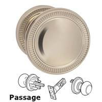 Omnia Industries - Arc Knobs - Passage Milled Knob Small Milled Rose in Polished Nickel Lacquered