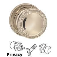 Omnia Industries - Arc Knobs - Privacy Milled Knob Milled Rose in Polished Nickel Lacquered