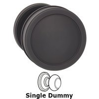 Omnia Industries - Arc Knobs - Single Dummy Edged Knob and Small Edged Rose in Oil Rubbed Bronze Lacquered