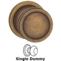 Omnia Industries - Arc Knobs - Single Dummy Edged Knob Edged Rose in Antique Brass Lacquered