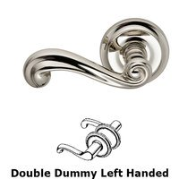 Omnia Industries - Door Levers - Double Dummy Traditions Left Handed Lever with Radial Rosette in Polished Nickel