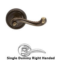 Omnia Industries - Door Levers - Single Dummy Rope Right Handed Lever with Rope Rosette in Shaded Bronze Lacquered