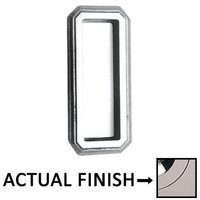 "Omnia Industries - Flush Pulls - 4"" (102mm) Traditional Recessed Pull in Polished Polished Nickel Lacquered"