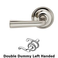 Omnia Industries - Door Levers - Double Dummy Traditions Left Handed Lever with Radial Rosette in Polished Nickel Lacquered
