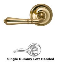 Omnia Industries - Door Levers - Single Dummy Orlean Left Handed Lever with Radial Rosette in Polished and Lacquered Brass