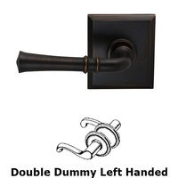 Omnia Industries - Prodigy - Double Dummy Traditional Left-Handed Lever with Rectangle Rose in Tuscan Bronze