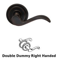 Omnia Industries - Prodigy - Right Handed Double Dummy Wave Lever with Traditional Rose in Tuscan Bronze